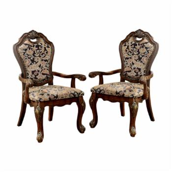 Furniture of America Jenan Dining Arm Chair- Set of 2