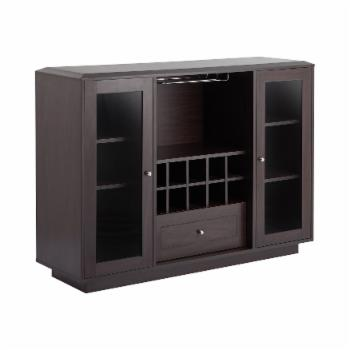 Furniture of America Kenna Espresso Contemporary Multi-Storage Dining Buffet