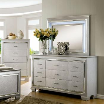 Furniture of America Dundee 9 Drawer Dresser and Mirror