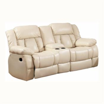 Furniture of America Rawene Bonded Leather Loveseat Recliner