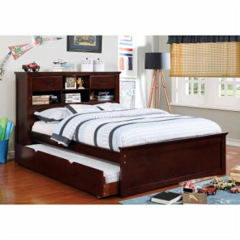 Furniture of America Henri Transitional Wooden Storage Youth Platform Bed