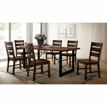 Furniture of America Jared 7 Piece Rustic Dining Table Set