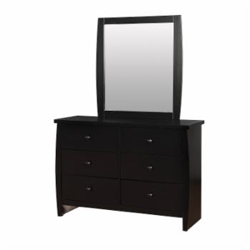 Furniture of America Lucio 6 Drawer Dresser with Mirror