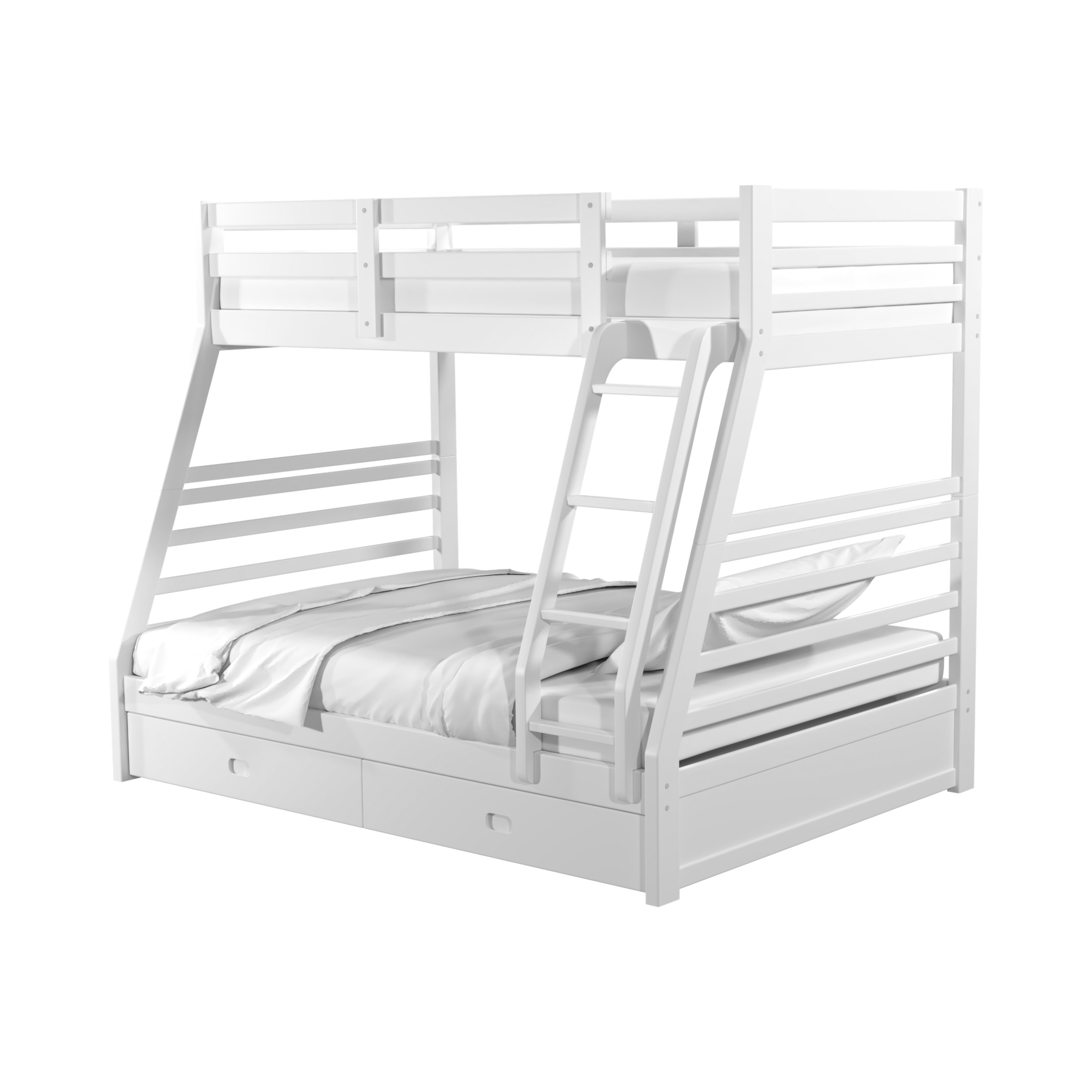 Furniture Of America Murray Twin Over Full Storage Bunk Bed