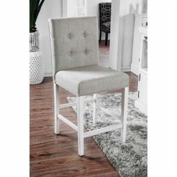 Furniture of America Alana Button Tufted Counter Height Chairs - Set of 2