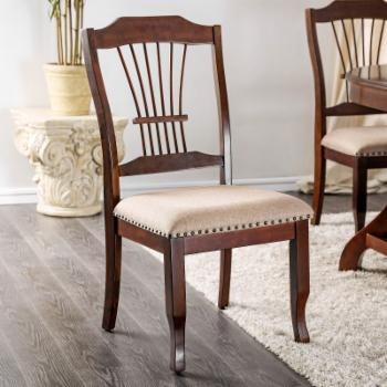 Furniture of America Esteban Traditional Nailhead Dining Side Chair - Set of 2
