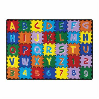 Furniture of America Charlie ABC and Numbers IDF-RG5209 Kids Indoor Area Rug