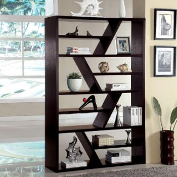 Furniture of America ZigZag Open Back Display Stand - Espresso