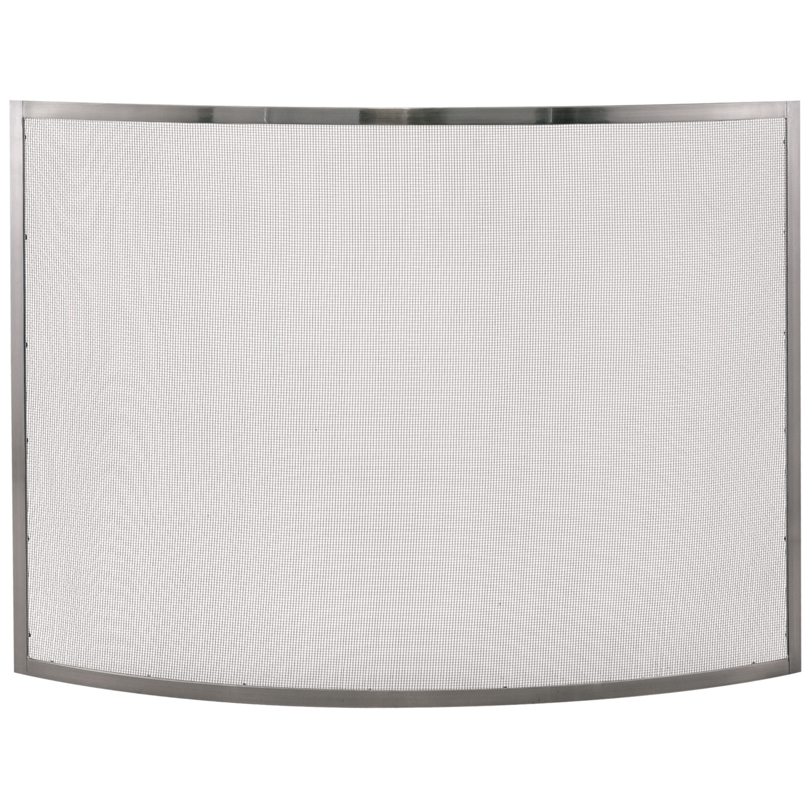 uniflame fireplace.  UniFlame Single Panel Curved Pewter Fireplace Screen Hayneedle