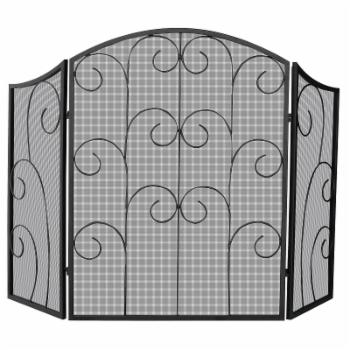 Uniflame 3 Panel Alysace Wrought Iron Fireplace Screen