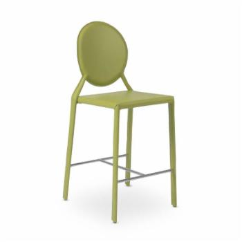 Euro Style Isabella 26 in. Round Back Counter Chair - Set of 2