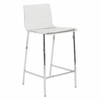Euro Style Chloe 26 in. Solid Back Counter Stools - Set of 2