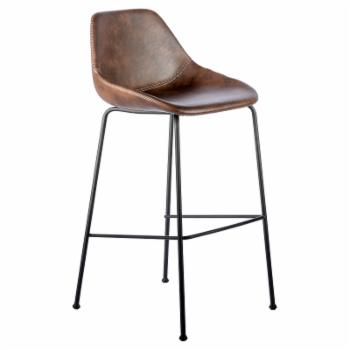 Euro Style Corinna 30 in. Upholstered Solid Low Back Bar Stool - Set of 2