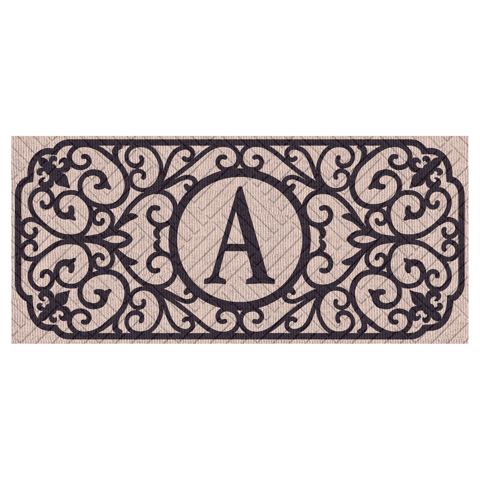 Evergreen Flag Sassafras Filigree Monogram Embossed Switch Mat Insert