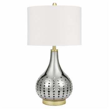 Cresswell Lighting Modern Pierced Metal Table Lamp