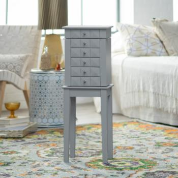 Finley Home Zoe Gray Jewelry Armoire
