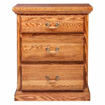Forest Designs 3 Drawer Nightstand with Drawer Pulls