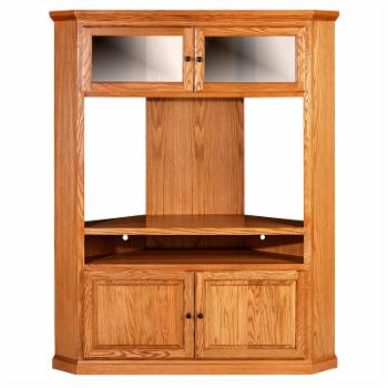 Forest Designs Traditional Large Corner TV Unit with Black Knobs