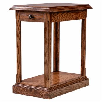 Forest Designs Traditional End Table with Black Knobs