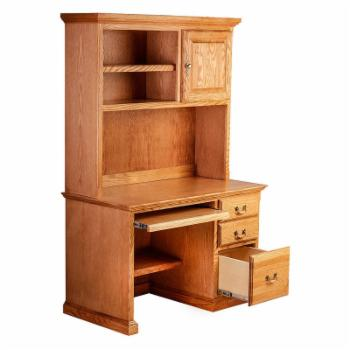 Forest Designs Traditional Desk with Keyboard Pullout and Optional Hutch