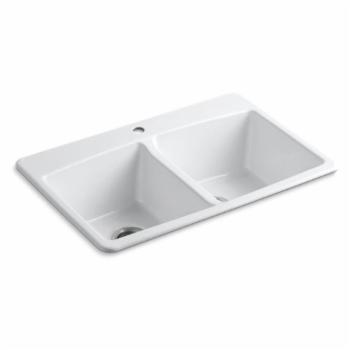 Kohler Brookfield Double Basin Top Mount Kitchen Sink