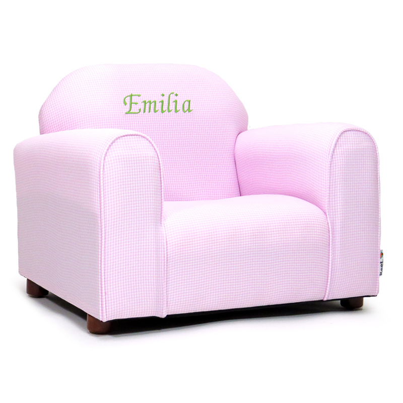 Gentil KEET Personalized Kids Mini Chair Pink Gingham