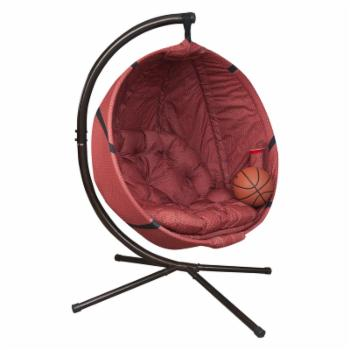 Flowerhouse Fabric Basketball Hanging Lounge Chair with Stand