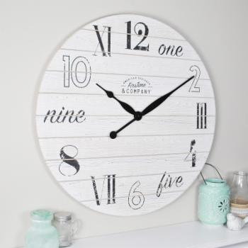 FirsTime Shiplap Chic Wall Clock