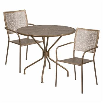 Flash Furniture Steel Round Patio Bistro Set