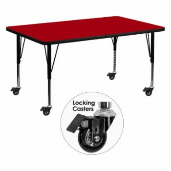 Flash Furniture Mobile 30W x 60L in. Activity Table with Adjustable Preschool Legs