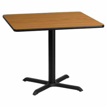 Flash Furniture 36 in. Square Laminate Dining Table with 4 Footed Base