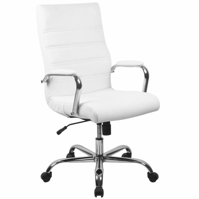premium selection 9425e 8ae1b Flash Furniture High Back Leather Executive Swivel Office Chair with Chrome  Arms