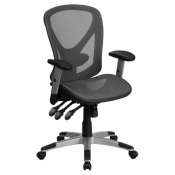 Flash Furniture Mid-Back Mesh Executive Swivel Office Chair with Mesh Seat and Back and Triple Paddle Multi-Function Control