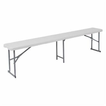 Flash Furniture 71 in. Bi-Fold Outdoor Bench with Carrying Handle