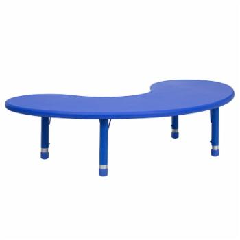 Flash Furniture 65L x 35W in. Half Moon Adjustable Height Activity Table
