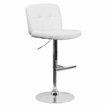 Flash Furniture Contemporary Tufted Adjustable Bar Stool with Chrome Base