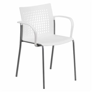 Flash Furniture RUT-1 Hercules Series Stack Chair with Air-Vent Back and Arms