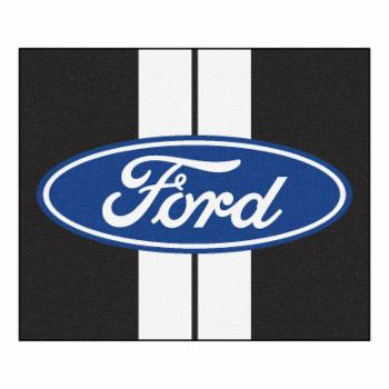 Fan Mats Ford Striped Oval Tailgater Utility Rug