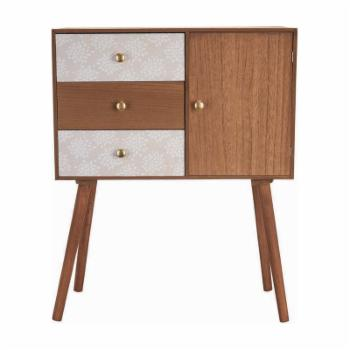 Foreside Home and Garden Mid-Century Console Storage Cabinet