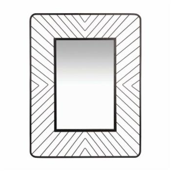 Foreside Home and Garden Geo Wire Rectangular Wall Mirror - 27.75W x 35.5H in.