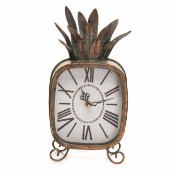 Foreside Home and Garden Pineapple Tabletop Clock
