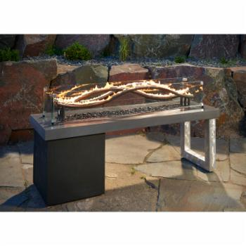 Outdoor GreatRoom Glass Guard for Wave Fire Pit