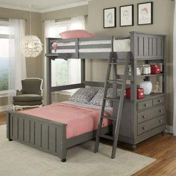 NE Kids Lake House Twin Loft Bed