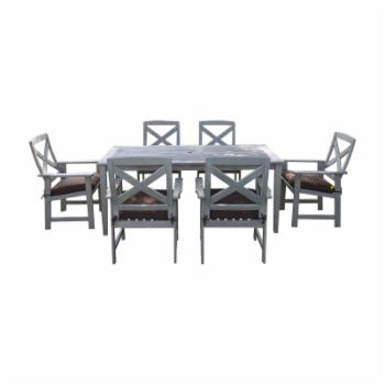 Cambridge Casual West Lake Mahogany 7 Piece Patio Dining Set
