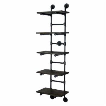 Furniture Pipeline Phoenix Modern Industrial Wall Mounted Ladder Bookcase