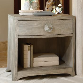 Global Views Bow Front 1 Drawer Nightstand