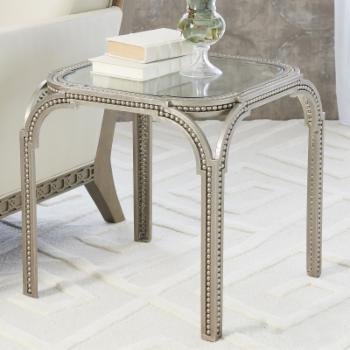 Global Views Forged Pearl Side Table