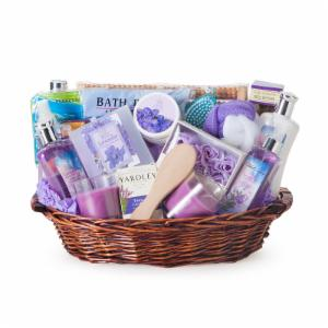 Spa gift baskets for special occasions hayneedle the essence of lavender spa gift basket solutioingenieria Choice Image