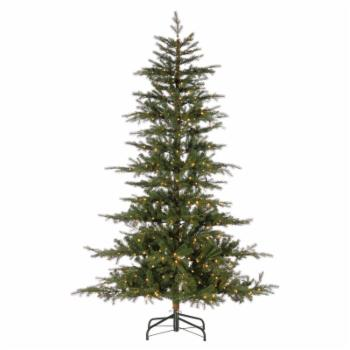 Sterling Tree Company Layered Full Pre-lit LED Twig Christmas Tree