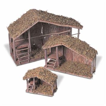 Gerson International Wood Nativity Stables - Set of 3